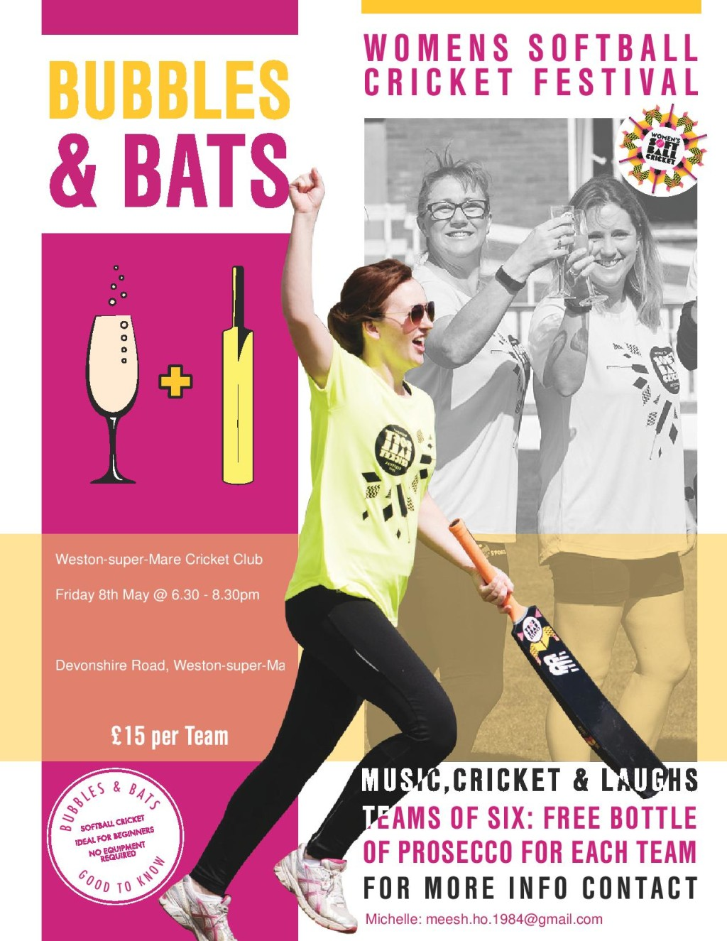 Bubbles & Bats softball cricket festival coming to WSMCC